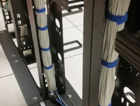 Close-up of networking equipment